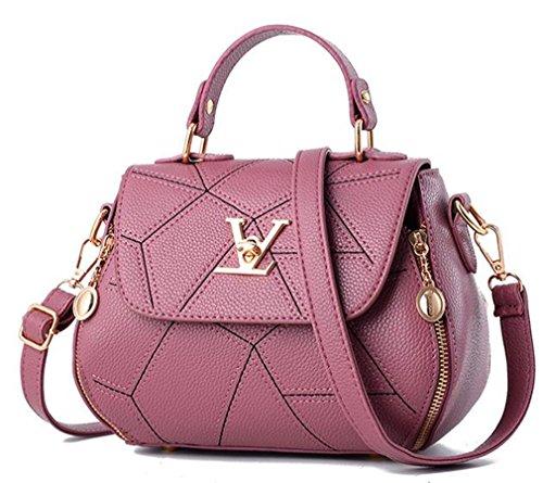 uaECB Womens Bag Leathe Handtaschen Shell Thread Damen Clutch Designer Bag Haupt Femme Women'stote Geldb?RSE Rubber Pink 23cmX13cmX18cm Rei Soft Shell