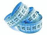 5 Maßbänder Blau 150cm inkl. Aufbewahrungsdose, Schneidermaßband, Bandmaß
