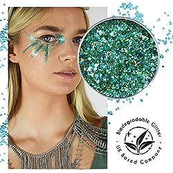Ecostardust Poseidon biodegradabile glitter ✶ festival Bioglitter cosmetici viso corpo capelli unghie