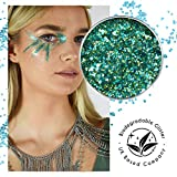 EcoStardust Poseidon Bio-Abbaubarer Glitzer, Festival, Bioglitter Kosmetik, Gesichts- und Körperhaare