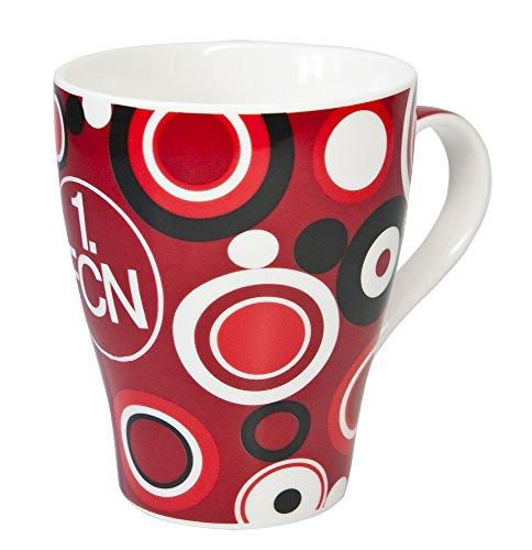 benu Tasse Porzellantasse Retro, Rot-Weiß-Schwarz, 46146 (Rote Tassen Trinken)