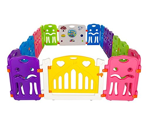 Cannons Plastic Baby Den Playpen with Games Station (Small Panels, 240 160 cm)