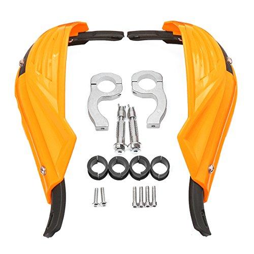 VORCOOL Paar 7/8 zoll Motorrad Handschützer für Honda Yamaha Suzuki KTM Polaris ATV (Orange)