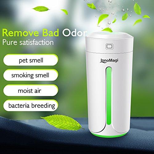 Lavendel-zimmer-diffusor (Luftbefeuchter Ultraschall 230ml Befeuchter bis zu 15-25㎡ für Wohn- und Schlafzimmer gegen Trocknung wegen der Heizung, Warm und Kalt Dampf Luftfilter mit LED-Display, Nachtmodus - InnoMagi (Weiß))