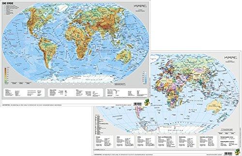 Die Erde physisch/politisch - DUO-Schreibunterlage klein