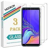 MOOKLIN Panzerglas Bildschirmschutzfolie für Samsung Galaxy A7 2018, 9H Härte, Anti-Kratzen, Anti-Bläsche, [3 Stück]