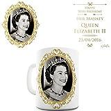 Twisted Envy Queen Elizabeth II 90ème anniversaire en céramique Funny Mug