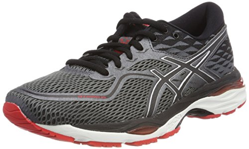 Asics Gel-Cumulus 19, Chaussures de Running Homme, Noir (Black/Carbon/Fiery Red 9097), 39.5 EU