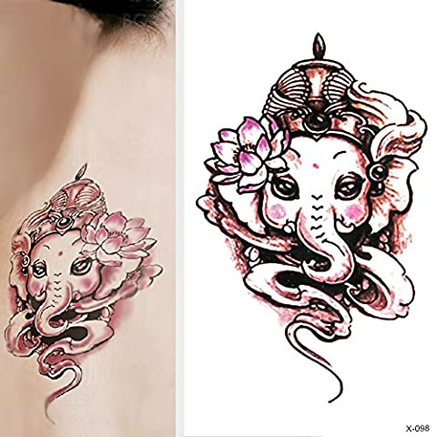 TOAOB Pack of 6 Sheets Animals Colorful Pretty elephants Waterproof Glitter Flash Temporary Tattoos Removable Childrens Tattoo Stickers Kids Toys