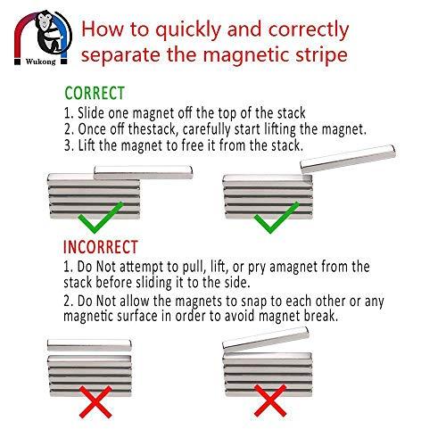 Wukong 10 Stck Starker Magnet Neodym Magnete Super Stark Krftig Neodym Viereckig Ziegel Magnete 60 X 10 X 5mm Seltenerdmagnete Sehr Starker Haftung Fr Glas Magnetboards Magnettafeln