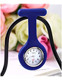 ShopyStore E Outad 1Pcs Nurses Pocket Watch Mini Portable Silicone Doctor Fob Watch Multiple Color