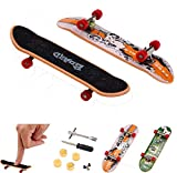 Malloom 5Pcs Mini Finger Board Micro Skateboard and Boring Decompression Toys - When You Feel Boring (Muticolor)