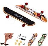 Malloom 5Pcs Mini Finger Board Micro Skateboard and Boring Decompression Toys - When You Feel Boring (Muticolor)