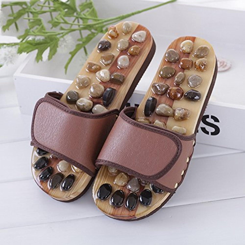 00a88a25f07d3c soins de santé automne pied pied pied acupuncture point galets chaussures  de massage, hommes et femmes, massage maison des sandales,  café...b07ctkld3c ...