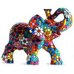 Figura Elefante Flores en Mosaico de la Colección Trencadis Antonio Gaudí Figura Mosaico. Figura Decorativa. Figura Elefante