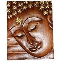 Buddha da parete in rilievo in 3d