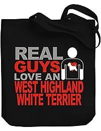 Teeburon Real guys love a West Highland White Terrier Bolsa de Lona