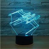 X Kämpfer 3D Illusion Lampe 7 Farbe Flugzeug Led 3D Nachtlichter Star Wars Touch Usb Tischlampe Baby Schlafen Nachtlicht