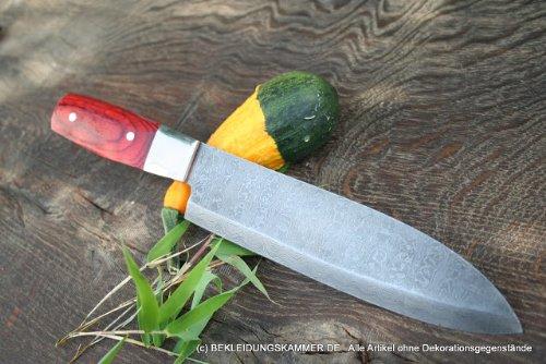 Damastküchenmesser couteaux santoku couteau de cuisine, 1 couteau de chef ou chefsmesser