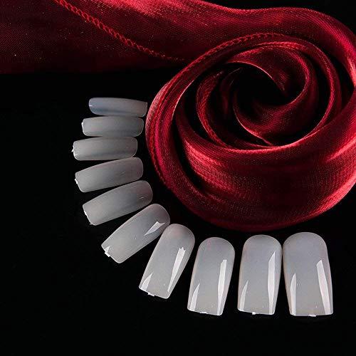 Shuxy Volle Abdeckung Nägel Lange falsche Nägel Sargförmige -