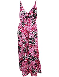 Universal Textiles Womens/Ladies Floral Print Strappy Crossover Maxi Summer Dress