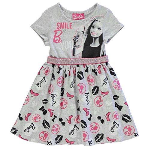 Character Kinder Maedchen Kleid Aermellos Rundhals Freizeit Sommer Baumwolle Barbie 7-8 Yrs