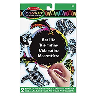 Melissa & Doug Scratch Art-Sticker Meerestiere