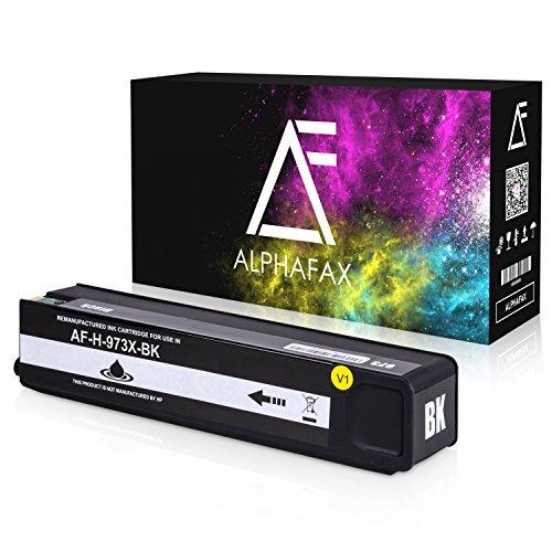 Alphafax Tintenpatrone kompatibel zu HP 973X für PageWide Pro 452dn 452dw 452dwt 477dn 477dw 477dwt 552dw 577dw 577z - Schwarz -