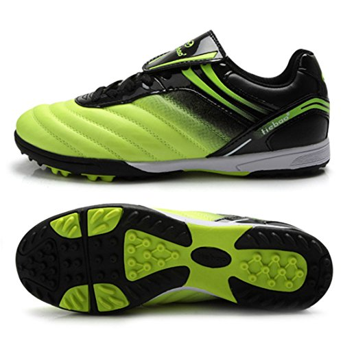 Men's Turf Soles Soccer Cleats Athletic Football Shoes Green Black