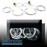 Seitronic 4x CCFL Angel Eyes - Standlicht Ringe, Xenon weiß, 2x 131mm, 2x 106mm