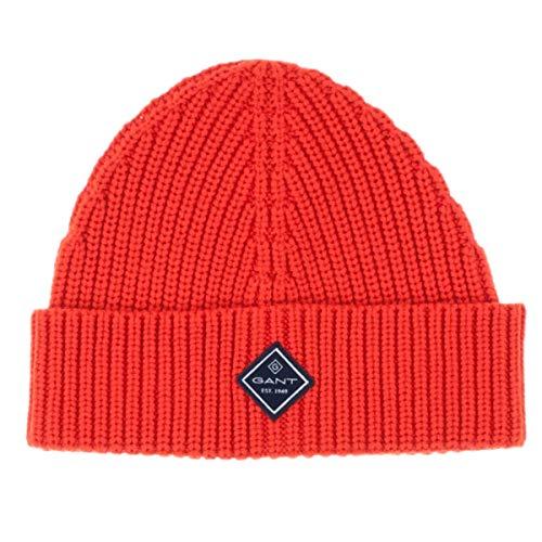 GANT Unisex Mütze Cotton Rib Knit Hat Strickmütze Wintermütze in Orange (818)
