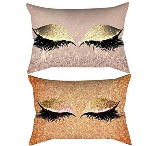 DOLDOA Haushalt Wohnen,Wimpern weichen Samt Kissenbezug 30x50cm Marmor Kissenbezüge (MehrfarbigC) (Dekorieren Sie Einen Kissenbezug)