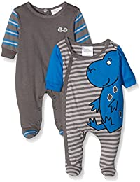 Twins Unisex Baby Sleepsuit Graphic Dino, Pack of 2