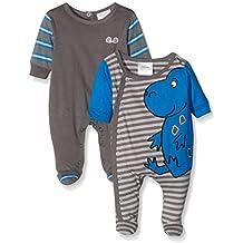 Twins Schlafstrampler Dino - Pijama para bebés, paquete de 2 unidades
