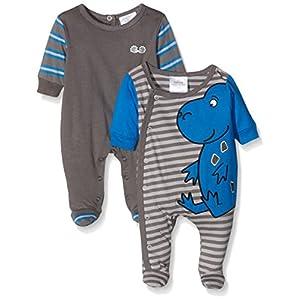 Twins-Schlafstrampler-Dino-Pijama-para-bebs-Paquete-de-2-Unidades