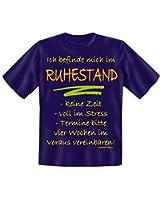 Ruhestand T-Shirt in Blau
