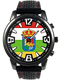 La Rioja España Reloj para hombre con correa de silicona