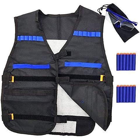 Giacca GFU maglia tattica con 12pcs freccette e di protezione occhiali occhiali per pistola giocattolo N-Strike Elite Series - Tattico Pistola