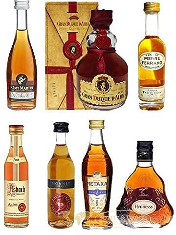 Weinbrand und Cognac Probierset mit jew. 1 x Metaxa 7-Sterne