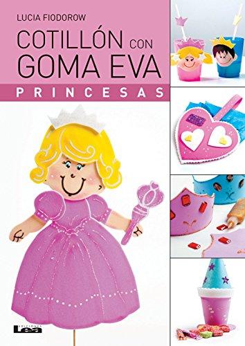 Cotillón con goma eva, princesas