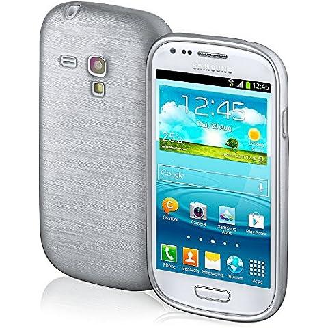 Funda protectora OneFlow para funda Samsung Galaxy S3 Mini Carcasa silicona TPU 1,5mm | Accesorios cubierta protección móvil | Funda móvil paragolpes bolso cepillado aluminio diseño en