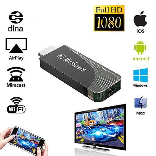 iBosi Cheng WiFi Display Dongle Drahtloser Display Empfänger HDMI Dongle für iOS Android Smartphones Tablets Windows Mac OS Laptops zum HDTV Projektor Monitor (Black)