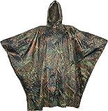 Regenponcho aus Rip Stop flecktarn, Gr. 144 x 205 cm und 9 weiteren Farben