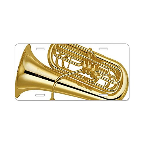 CafePress tuba-5Aluminium Nummernschild–Standard mehrfarbig