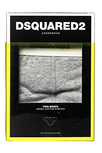 Dsquared² Classic Knit Herren Unterwäsche Slip JERSEY COTTON STRETCH Grau