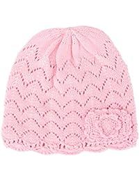 Tyidalin BéBé Fille Chapeau Naissance Bonnet Tricot en Coton Chaud pour  Automne Hiver Rose 7e858986a89