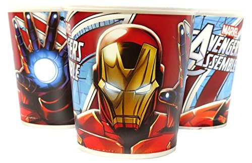 Untumble-Super-Hero-Iron-Man-Avenger-Birthday-party-supplies-Paper-Cups-used-as-juice-glasses-or-water-cups-SET-OF-30