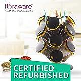 (Certified REFURBISHED) Floraware Plastic Revolving Spice Rack Set, 21-Pieces, Yellow