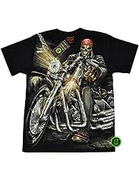 """T-Shirt Rock Chang """"Glow in the dark"""" Chang Heavy Metal Biker Tattoo Rocker Gothic (4020)"""