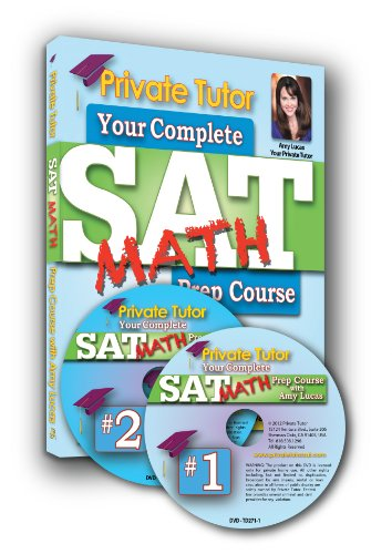 Private Tutor - MATH - 10-Hour Interactive SAT Prep Course - 2 DVDs & Book